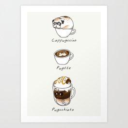 My favorite coffee Art Print