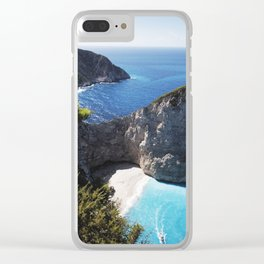 Zakynthos Island, Navagio Beach Clear iPhone Case