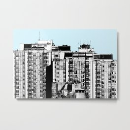 Small Living Boxes BLUE Metal Print