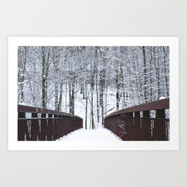 Snowfall at Brickworks on Christmas Day, 2020. LXIX Art Print