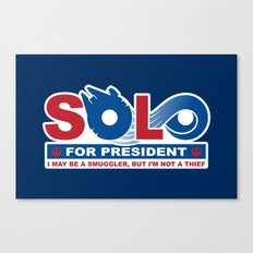 Solo for President Canvas Print
