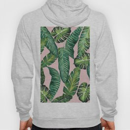 Jungle Leaves, Banana, Monstera II Pink #society6 Hoody