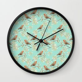 Vintage Redbreast Robin Pattern Wall Clock