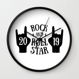 Rock and roll star Wall Clock