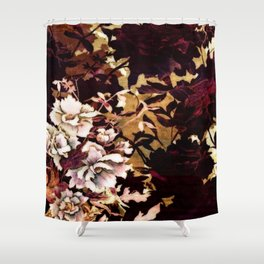 Tropical Blaze Floral Print Shower Curtain