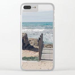 Winter in Sardinia Clear iPhone Case