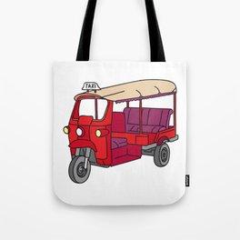 Red tuktuk / autorickshaw Tote Bag