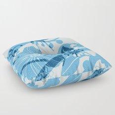 Bird in blue Floor Pillow