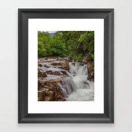 Rocky Gorge Waterfall Framed Art Print
