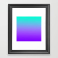 PURPLE & TEAL FADE Framed Art Print