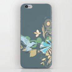 Hummingbird leaf tangle iPhone & iPod Skin