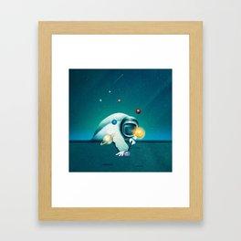 Astronaut Billards Framed Art Print