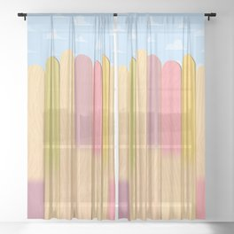 The Popsicle Stick Wall Sheer Curtain