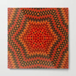 Ethnic geometric ornament 5 Metal Print