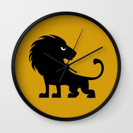 Angry Animals - lion Wall Clock