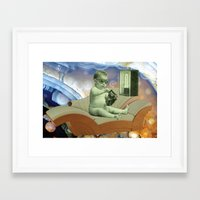 toddler Framed Art Prints featuring Toddler Time Machine by Ira Carter