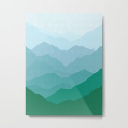 Abstract and geometric landscape 07 Metal Print