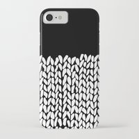knit iPhone & iPod Cases featuring Half Knit by Project M