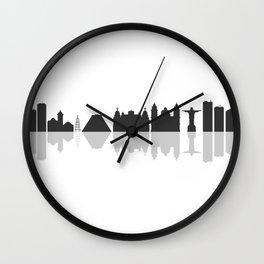 skyline of rio de janeiro Wall Clock