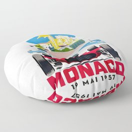 Classic Grand Prix Poster Floor Pillow