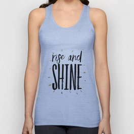 RISE AND SHINE, Inspirational Quote,Motivational Print,Digital Wall Art,Bedroom Decor Unisex Tank Top