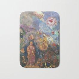 Odilon Redon - Buddah And Flowers Bath Mat