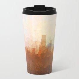 Newark, New Jersey Skyline - In the Clouds Travel Mug