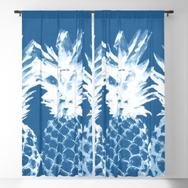 Pineapple blues Blackout Curtain