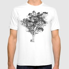 Tree and Gangster Mens Fitted Tee White MEDIUM