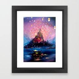 I see the lights Framed Art Print