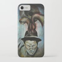 tom waits iPhone & iPod Cases featuring Tom Waits by Victoria Lavorini