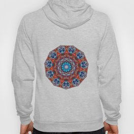 Digital Bright Colorful Red Blue Kaleidoscope Mandala Bohemian Hoody