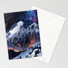 Mountain CALM IN space view Stationery Cards