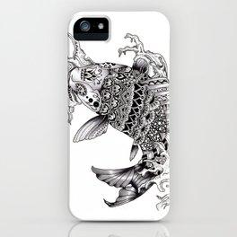 Ornate Mandala Koi Design iPhone Case