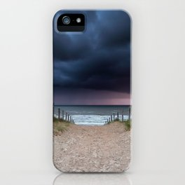 Stormy coast iPhone Case
