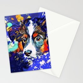 Abstractly Australian Shepherd Stationery Cards