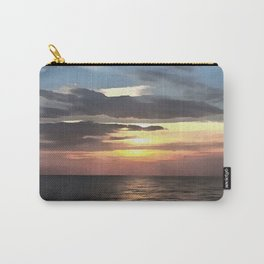 Pefect Living Coral Colored Ocean Sunrise Carry-All Pouch