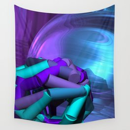 playing with colors and forms -04- Wall Tapestry