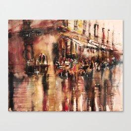 Soirée au Comptoir du commerce Canvas Print