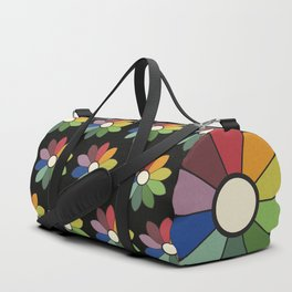 Flower pattern based on James Ward's Chromatic Circle (vintage wash) Duffle Bag