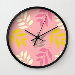 Hummingbird Hallow Collection - Blowing Leaves Wall Clock