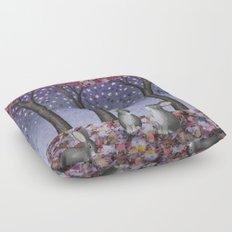 starlit bunnies Floor Pillow