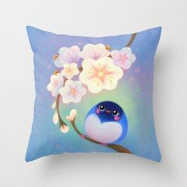 Flower viewing Throw Pillow