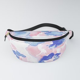 Abstract Flora Pastel Wandering Fanny Pack