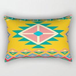 Yellow Native Aztec Rectangular Pillow