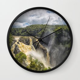 Beautiful wild waterfall Wall Clock