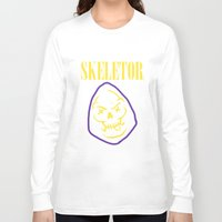 skeletor Long Sleeve T-shirts featuring Skeletor Band by Shine Out