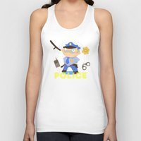 police Tank Tops featuring Police by Alapapaju
