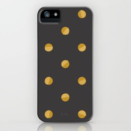 Gold Dots iPhone Case