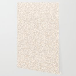 Tiny Spots - White and Pastel Brown Wallpaper